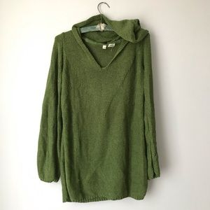 MOTH army green hooded sweater M anthropologie